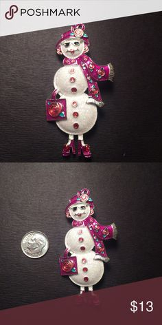 Snow woman Brooch Excellent condition Jewelry Brooches