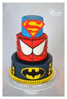 Superhero Cake: I would if I could (make it).