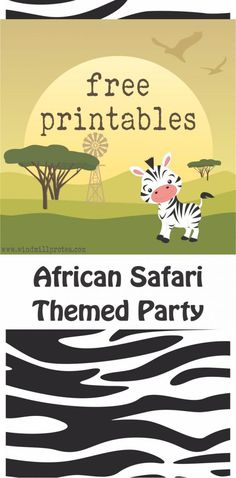 Wild Animals Birthday Party with Free Printables | Windmill & Protea