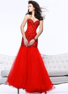 Trumpet/Mermaid Sweetheart Floor-Length Organza Charmeuse Prom Dress With Lace Beading Sequins