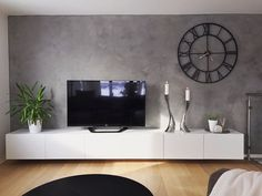Living room Wall painting color : Jotun Lady Minerals Vallmofrö TV Shelf, TV B. Living room Wall p Living Room Tv, Living Room Modern, Interior Design Living Room, Living Room Designs, Apartment Living, Tv Wall Ideas Living Room, Ikea Living Room Furniture, Feature Wall Living Room, Furniture Nyc