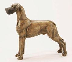Louise Peterson - The Great Dane, miniature bronze edition