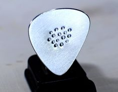 Guitar Pick for the Space Age Handmade from Aluminum