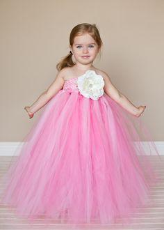 Pink Lush Flower Girl Tutu Dress. $110.00, via Etsy.