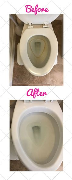 How to get rid of that stubborn toilet ring - Cleaning Hacks Household Cleaning Tips, Deep Cleaning Tips, Cleaning Recipes, House Cleaning Tips, Natural Cleaning Products, Cleaning Solutions, Spring Cleaning, Kitchen Cleaning Tips, Cleaning Routines