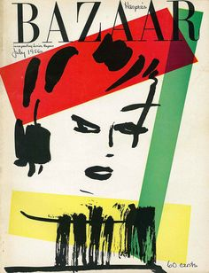 Harper`s Bazaar July 1956 cover by Alexy Brodovich