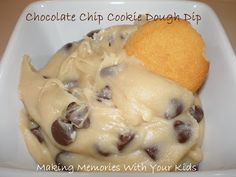 {Secret Recipe Club} Chocolate Chip Cookie Dough Dip - Making Memories With Your Kids