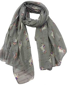Unicorn Print Women's Infinity Scarf long, wide Super soft and lightweight for all seasons. Unicorn Horse, Thing 1, Large Scarf, Horse Print, Unicorn Print, Heart Print, Womens Scarves, Alexander Mcqueen Scarf, Scarf Wrap
