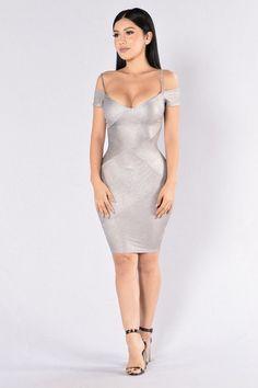 352b62038b0 Tell Me Twice Dress - Silver Sexy Dresses, Επίσημα Φορέματα, Φορέματα Για  Πάρτι,