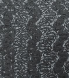 Red Tag Apparel Fabric- Lace Smoke