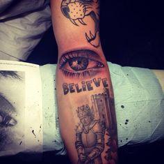 Image result for inner elbow eye tattoo