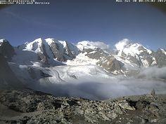 Blick auf Palu und Bernina Skiweather.eu