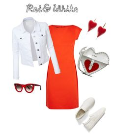 """red&white"" by s-mihlik on Polyvore featuring мода, Boutique Moschino, LE3NO, Gap, Dr. Martens и Thierry Lasry"