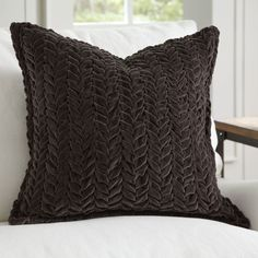 8797bfe99243 Birch Lane Allie Velvet Quilted Pillow Cover   Reviews