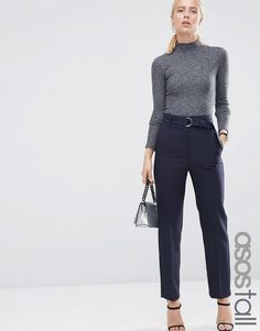 ASOS+TALL+Highwaist+Trouser+With+Paperbag+Waist