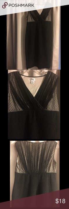 "Motherhood Maternity Dress Size Medium Motherhood Maternity dress. Size medium. Black/Nude top over sheer black . Stretch material. Worn once. No rips or stains.  18.5"" armpit to armpit 36"" long (top to bottom at back of dress) Motherhood Maternity Dresses"