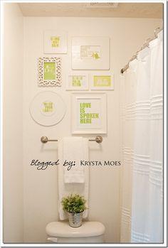 wall art, toilet room, galleri, decorating ideas, gallery walls, bathroom printabl, bathroom ideas, downstairs toilet, kid bathrooms