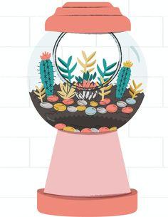 How to make a DIY Gumball Planter!