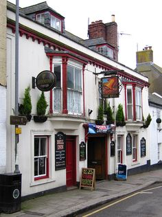 ♕ The Bell Inn - Helston, Cornwall British Pub, Great British, British Isles, Towns In Cornwall, Beautiful Islands, Beautiful Places, Storefront Signs, Old Bar, Pub Signs