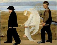 The Wounded Angel (1903)  -  Hugo Simberg *** Birthday 24 June (1873) *** http://en.wikipedia.org/wiki/Hugo_Simberg