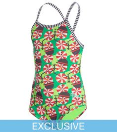 fde81ea515 Dolfin Uglies SwimOutlet Exclusive Girls  Peppermint Patty One Piece  Swimsuit