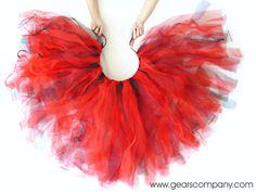 Como hacer una falda de tul sin coser para varios disfraces según los colores