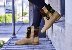These boots are definitely made for walking! Taupe, Bootie Boots, Toms, Booty, Heels, Crowd, Casual, Leather, Walking