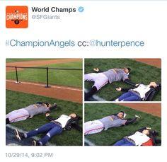 Hunter Pence, SF Giants, 2014 World Series Champions!
