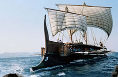 Olympias is a reconstruction of an ancient Athenian trireme and an important example of experimental archaeology. She was subject to sea trials in 1987, 1990, 1992 and 1994, but one of the most informative was an exercise in 1987 when crewed by 170 volunteer oarsmen and oarswomen. Olympias achieved a speed of 9 knots (17 km/h) and was able to execute 180 degree turns within one minute, in an arc no wider than two and a half (2.5) ship-lengths.