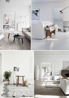 Popular Shades of White Image credits: Top – pinterest | Bottom left - wordpress on pinterest.com | bottom right - casatv.ca