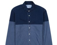 sidian ersatz and vanes double colour blocked shirt
