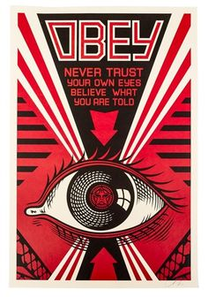 Artwork by Shepard Fairey, OBEY, Made of color lithograph