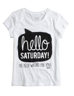 Stock up on the essentials with our selection of girls' basic tops & tanks. From long sleeves to short - find simple styles that are perfect for layering at Justice. Cute Tshirts, Funny Shirts, Tee Shirts, Tee Shirt Designs, Tee Design, Hello Saturday, Girl Outfits, Cute Outfits, Justice Clothing