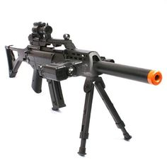 Introducing the Spring Sniper Rifle Airsoft Gun. This fantastic Airsoft rifle comes with a faux scope bipod and silencer. Airsoft Sniper, Airsoft Gear, Tactical Gear, Nerf Storage, Paintball, Great Photos, Nerf Gun, Sig Sauer, Shotguns