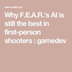 Why F.E.A.R.'s AI is still the best in first-person shooters : gamedev