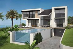 """Location """"Cabopino golf , sea and mountain view PLOT N°1 - Villa Isaba : 895.000€ - 4 bedrooms en suite - 4 bathrooms  - guest toilet - total build 342 m² - surface 252 m² - covered terraces 30 m² - open terraces 60 m² - garage / storage 60 m² - pool 10x4 www.bablomarbella.com"""