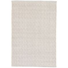 Lattice Dove Grey Woven Cotton Rug | Dash & Albert