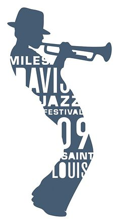 """Miles Davis Jazz Festival Featured in: 2011 Typography Annual """"Identity for a Miles Davis music festival. The identity had to read strongly on vertical lightpole banners as well as very small in advertising."""" Typefaces: Akzidenz Grotesk Bold, DIN Schriften, Eurostile. Liz Mohl, designer Eric Thoelke, creative director TOKY Branding + Design, design firm Miles Davis Jazz Festival, client"""