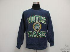 Vtg 90s Jansport Notre Dame ND Fighting Irish Crewneck Sweatshirt sz L Large Lep #Jansport #NotreDameFightingIrish