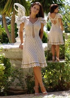 Gorgeous. And, as with most really lovely crochet dresses, the site is in Russian. Would be great to find a diagram.