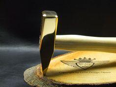 Hammer, 24 Karat vergoldet, 24 Karat, Gold, Vergolden, Luxus, Geschenk