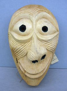 Booger mask Carved from basswood by John Julius Wilnoty, Jr., Eastern Band of Cherokee. The Booger Dance is a Cherokee traditional masked dance; the mask designs continue to change through time.