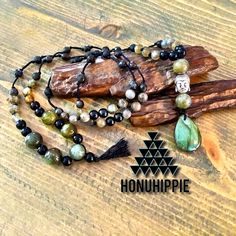 Boho Mala Labradorite buddha necklace, yoga meditation jewelry by HonuHippie on Etsy https://www.etsy.com/listing/275029208/boho-mala-labradorite-buddha-necklace