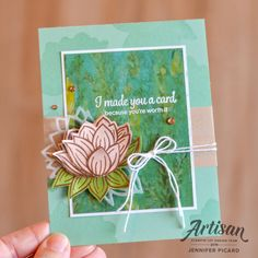Stampin' Up! Line Art Images, Image Stamp, Flower Cards, Stampin Up Cards, Paper Piecing, Lily Pad, I Card, Making Ideas, Cardmaking