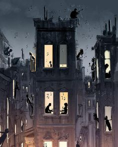 """Mi piace"": 26.7 mila, commenti: 179 - Pascal Campion Art (@pascalcampionart) su Instagram: ""Something's going on. #pascalcampion #pascalcampionart #sketchoftheday #cityscapes #musicart…"""