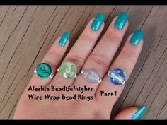 Wire Wrap Bead Ring Wirework Tutorial Part 1 - YouTube