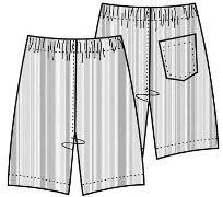 Выкройка: Мужские шорты из трикотажа - Бесплатные выкройки для шитья одежды