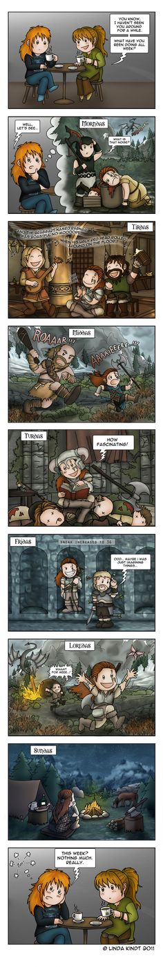 Week In Skyrim by *Isriana on deviantART