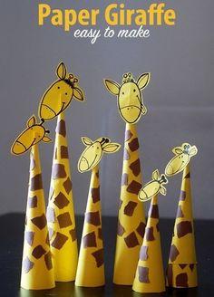 Делаем жирафа из бумаги. Поделка вместе с детьми