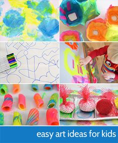 East Art Ideas for Kids - a selection of some of our easy art ideas